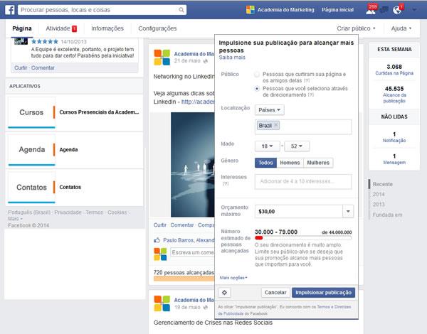 Como usar o recurso Impulsionar Publicação no Facebook como estratégia de Facebook Marketing
