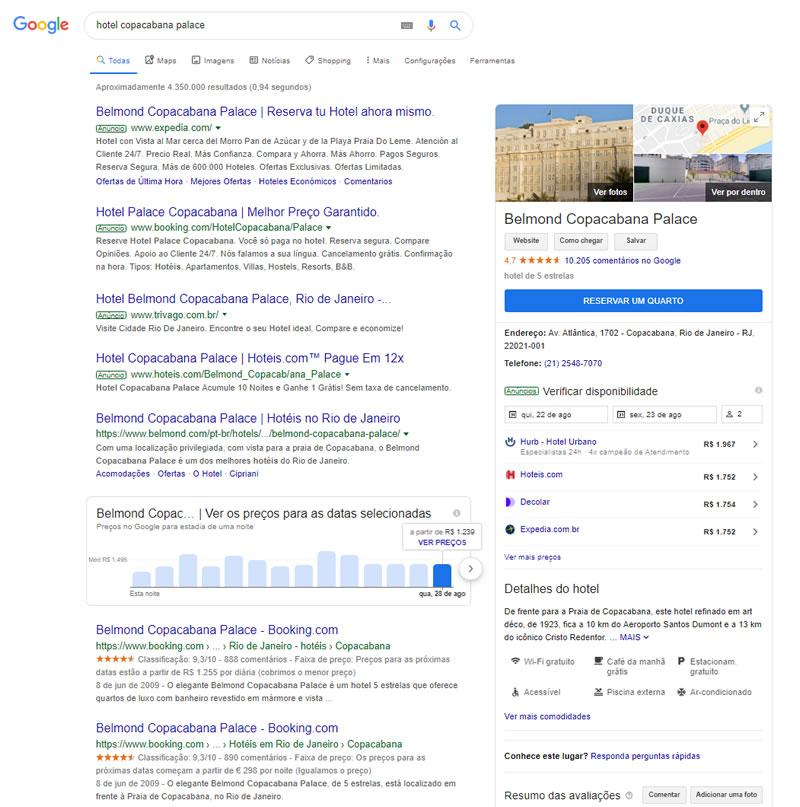 Google Meu Negócio para hotéis